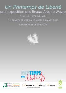 Affiche Libertés plume 03.03.15